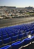 Punto di vista dell'infield alla gara motociclistica su pista del motore di Lowes Fotografia Stock Libera da Diritti