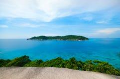 Punto di vista dell'isola di Similan in Phang-Nha, TAILANDIA Immagini Stock