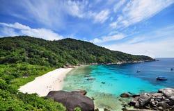 Punto di vista dell'isola di Similan in Phang-Nha, TAILANDIA Immagine Stock