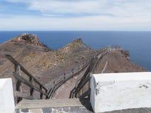 Punto di vista dell'Oceano Atlantico sulle isole Canarie Fotografia Stock