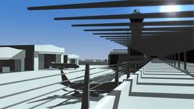 Punto di vista dell'ospite dell'aerodromo Fotografia Stock Libera da Diritti
