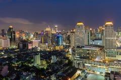 Punto di vista dell'uccello alla città di Bangkok Fotografia Stock