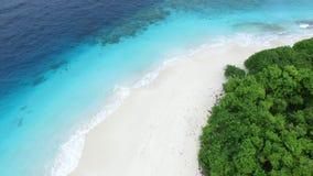 Punto di vista dell'uccello dell'isola delle Maldive Immagini Stock Libere da Diritti