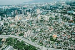 Punto di vista dell'uccello di Kuala Lumpur Fotografie Stock