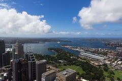Punto di vista dell'uccello di Sydney Immagini Stock Libere da Diritti