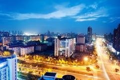 Punto di vista dell'uccello a Wuhan Cina Immagini Stock
