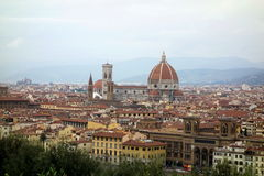 Punto di vista della città di Florence Cathedral Fotografia Stock Libera da Diritti