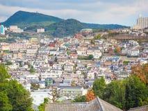 Punto di vista della città di Nagasaki dal giardino di Glover Immagine Stock