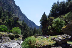 Punto di vista della Grecia di Samaria Gorge Fotografia Stock