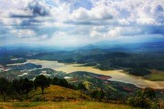 Punto di vista della montagna sulla montagna di Liang Biang - Dalat, Vietnam Immagine Stock Libera da Diritti
