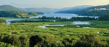 Punto di vista della palude di costituzione e di Hudson River immagini stock libere da diritti