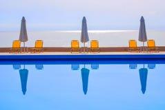 Punto di vista della piscina Fotografie Stock