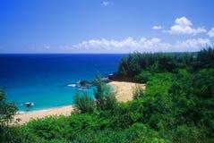 Punto di vista della spiaggia di Lumahai Immagine Stock Libera da Diritti