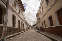 Punto di vista della via di San Antonio de Ibarra Fotografie Stock