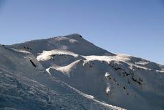 Punto di vista dello Snowy Fotografia Stock Libera da Diritti