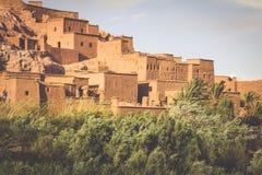 Punto di vista di Ait Benhaddou Kasbah, Ait Ben Haddou, Ouarzazate, Morocc Immagini Stock Libere da Diritti
