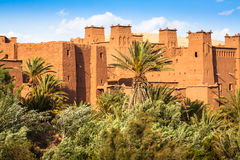 Punto di vista di Ait Benhaddou Kasbah, Ait Ben Haddou, Ouarzazate, Morocc Immagine Stock Libera da Diritti
