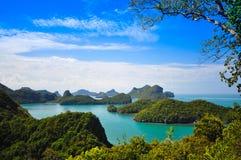 Punto di vista di Ang Thong National Marine Park, Tailandia Immagine Stock