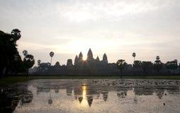 Punto di vista di Angkor Wat Temple Immagine Stock
