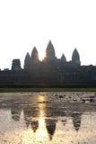Punto di vista di Angkor Wat Temple Immagini Stock