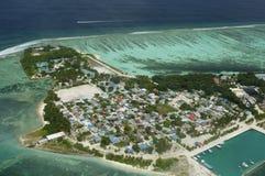 Punto di vista di Arial dell'isola di vacanze Fotografia Stock