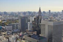 Punto di vista di Ariel della città di Tokyo, Giappone Fotografie Stock Libere da Diritti