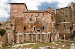 Punto di vista di August Forum, Roma Fotografie Stock Libere da Diritti