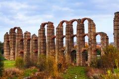 Punto di vista di autunno di Acueducto de los Milagrost Fotografia Stock Libera da Diritti