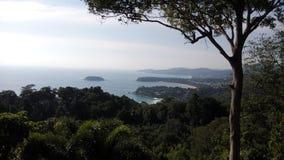 punto di vista di 3 baie, Phuket thailand Fotografia Stock