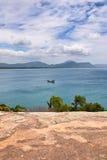 Punto di vista di Barra da Lagoa - Florianopolis, Brasile Immagini Stock