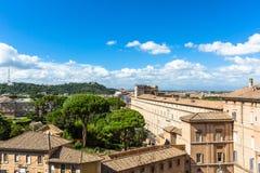 Punto di vista di Basilica di San Pietro in Vaticano Fotografia Stock Libera da Diritti