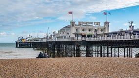 Punto di vista di Brighton Pier vittoriano Fotografia Stock