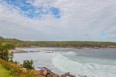 Punto di vista di Cabot Trail Scenic Fotografie Stock Libere da Diritti