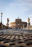 Punto di vista di Castel Sant ' Angelo, Roma, Italia fotografie stock