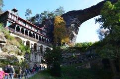 Punto di vista di Ceco Svizzera del parco nazionale di paesaggio Fotografia Stock