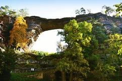 Punto di vista di Ceco Svizzera del parco nazionale di paesaggio Fotografia Stock Libera da Diritti