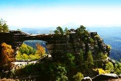 Punto di vista di Ceco Svizzera del parco nazionale di paesaggio Immagine Stock Libera da Diritti