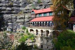 Punto di vista di Ceco Svizzera del parco nazionale di paesaggio Fotografie Stock