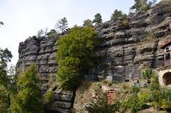 Punto di vista di Ceco Svizzera del parco nazionale di paesaggio Immagini Stock Libere da Diritti