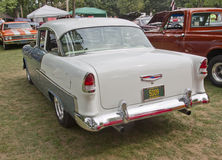 Punto di vista 1955 di Chevy Bel Air Rear Fotografia Stock Libera da Diritti