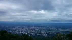 Punto di vista di Chiang Mai dalla collina Immagine Stock
