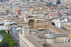 Punto di vista di Città del Vaticano da sopra. Fotografie Stock Libere da Diritti