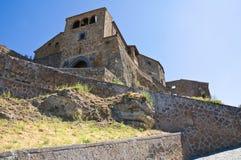 Punto di vista di Civita di Bagnoregio. Il Lazio. L'Italia Fotografia Stock Libera da Diritti