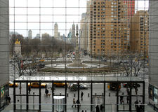 Punto di vista di Colombus Circle Immagini Stock Libere da Diritti