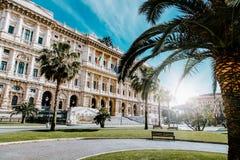 Punto di vista di Corte Suprema di Cassazione dalla piazza Cavour Fotografia Stock