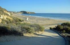 Punto di vista di Crystal Cove State Park, California del sud Fotografie Stock