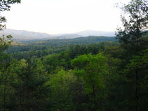 Punto di vista di Del Rio, Tennessee vicino alla montagna inglese Fotografie Stock
