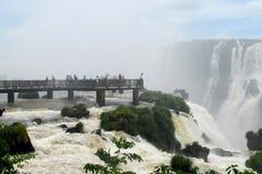 Punto di vista di Garganta del Diablo della cascata di Iguassu Fotografia Stock Libera da Diritti