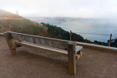 Punto di vista di golden gate bridge Fotografie Stock