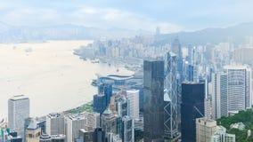 Punto di vista di Hong Kong centrale fotografia stock